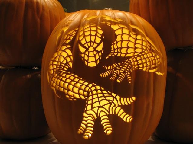 spiderman-pumpkin-carving-design